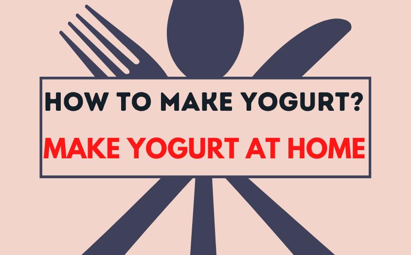 How to Make Yogurt? Make Yogurt at Home