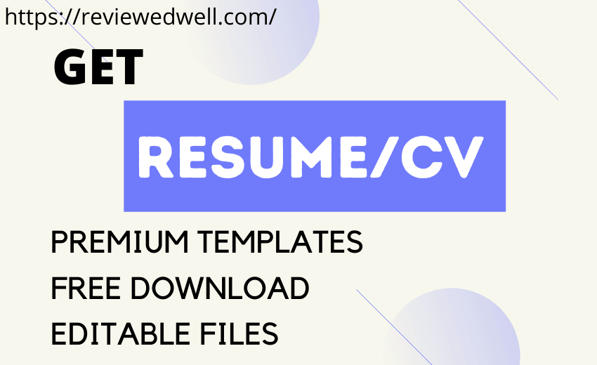 RESUME/CV PREMIUM TEMPLATES FOR EVERY FIELD