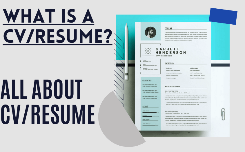 What is a CV/Resume? Learn All About CV/Resume